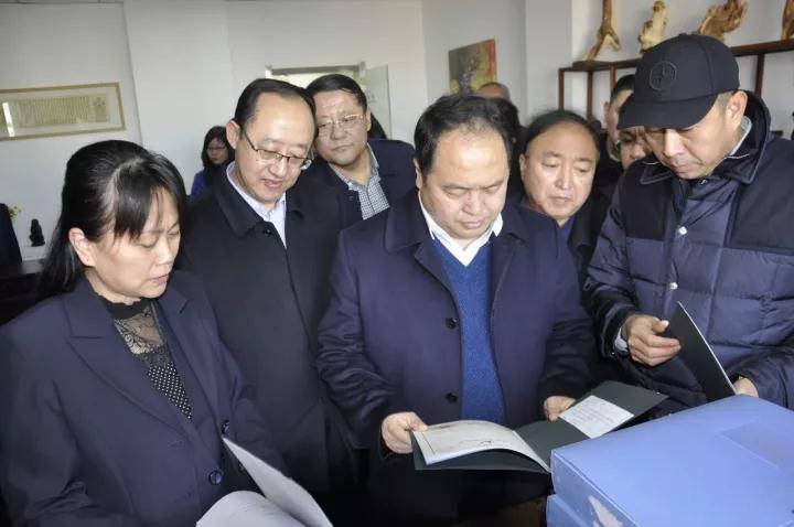山西省中小企业局局长李东洪一行来大同互联网+服务产业园调研