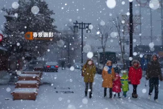 大同2018年的第一次与雪的邂逅,大同你太美了!